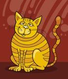 Sorridere giallo del gatto Fotografie Stock Libere da Diritti