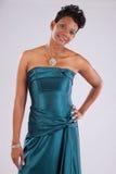 Sorridere grazioso della donna di colore Immagini Stock Libere da Diritti