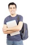 Sorridere ispano dello studente maschio immagine stock libera da diritti