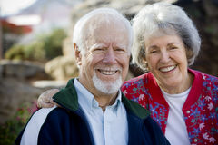 Sorridere maggiore delle coppie Immagine Stock Libera da Diritti