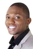 Sorridere nero astuto felice dell'uomo d'affari Immagine Stock Libera da Diritti