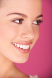 Sorridere perfetto dei denti Immagine Stock