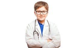 Sorridere piccolo d'aspirazione di medico Immagine Stock Libera da Diritti