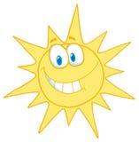 Sorridere pieno di sole del fronte illustrazione vettoriale