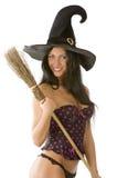 Sorridere sexy della strega Fotografie Stock