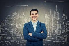 Sorridere sicuro dell'architetto Immagini Stock Libere da Diritti
