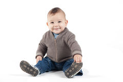 Sorridere sveglio del bambino Fotografia Stock