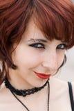 Sorridere teenager astuto segreto fotografia stock