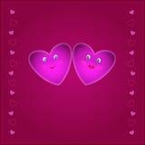 Sorriem os corações ilustração royalty free