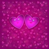 Sorriem os corações ilustração do vetor