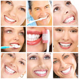 Sorriem os dentes da American National Standard Imagem de Stock Royalty Free