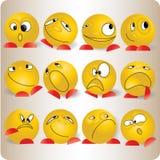 Sorriem os desenhos animados das emoções Imagem de Stock