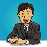 Sorrindo, homem de negócios confiável Ilustração do Vetor