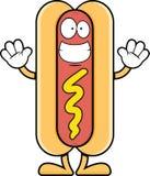Sorrindo o cachorro quente dos desenhos animados Fotografia de Stock
