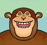 Sorrindo o chimpanzé Fotografia de Stock Royalty Free