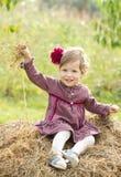 Sorrindo pouca menina do país Fotografia de Stock Royalty Free