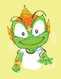 Sorrir e actuar dão-me são projeto de caráter desenhos animados tailandeses Fotos de Stock