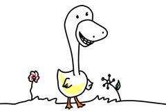 Sorrir forçadamente do pato Imagens de Stock