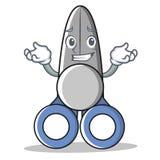 Sorrir scissor o estilo dos desenhos animados do caráter Imagens de Stock Royalty Free