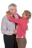 Sorrisi adulti delle coppie fotografia stock