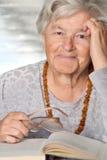 Sorrisi anziani Immagini Stock Libere da Diritti
