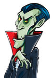 Sorrisi del Dracula di conteggio del fumetto Immagini Stock