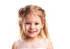 Sorrisi della bambina Fotografia Stock