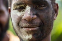 Sorrisi della Papuasia Nuova Guinea Immagini Stock Libere da Diritti