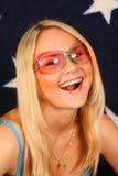 Sorrisi della ragazza Fotografia Stock