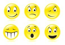 Sorrisi di lustro Fotografia Stock