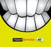 Sorrisi felici del biglietto di auguri per il compleanno Immagini Stock Libere da Diritti