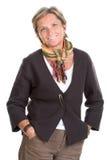 Sorrisi maturi della donna Fotografia Stock Libera da Diritti