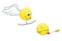 Sorrisi per il giorno del biglietto di S. Valentino illustrazione di stock