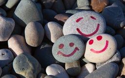 Sorrisi sulle pietre Immagini Stock Libere da Diritti