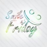 Sorriso è tipografia di venerdì Immagini Stock Libere da Diritti