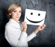 Sorriso alegre Fotos de Stock