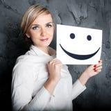 Sorriso alegre Fotografia de Stock