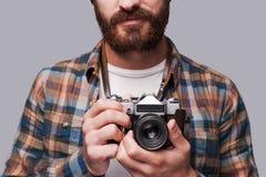Sorriso alla macchina fotografica! Fotografia Stock Libera da Diritti
