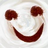 Sorriso allegro di caffè, cacao illustrazione vettoriale