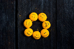 Sorriso amarelo como um sol Fotos de Stock Royalty Free