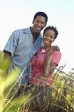 Sorriso americano africano feliz dos pares Fotos de Stock Royalty Free