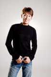 Sorriso amigável do indivíduo asiático Fotografia de Stock