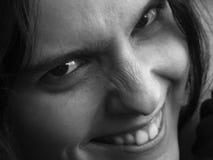 Sorriso arrabbiato Fotografia Stock Libera da Diritti