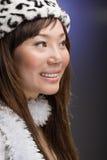 Sorriso asiático da forma Fotos de Stock Royalty Free