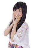 Sorriso asiático da menina foto de stock royalty free