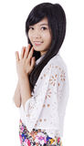 Sorriso asiático da menina imagens de stock royalty free