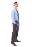 Sorriso asiático do homem de negócio Fotografia de Stock Royalty Free