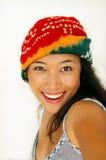 Sorriso asiatico Immagini Stock