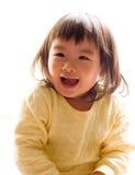 Sorriso asiatico del bambino Immagini Stock