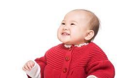 Sorriso asiatico della neonata fotografia stock libera da diritti